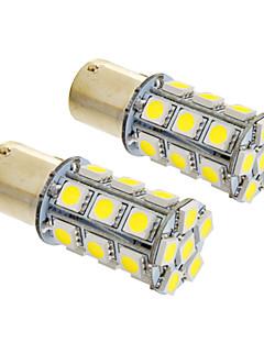 Ampoule 6W 1156/BA15S 24x5050SMD 490lm 5500-6500K blanc froid lumière LED pour voiture (12V, 2pcs)