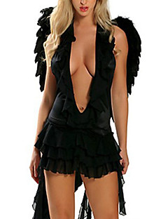 Hell Angel Black Sexy Women's Halloween Costume