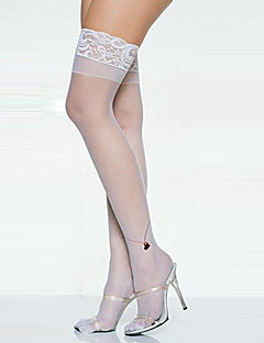 Angel Style White Lace Women's Stockings Halloween Props Cosplay Accessories