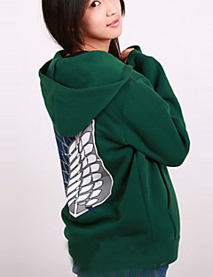Attack on Titan Green Hoodie Cosplay Costume(Normal Sleeve)