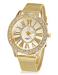 Women's Watch Fashion Diamante Golden Band Dress Wrist Watch Cool Watches Unique Watches
