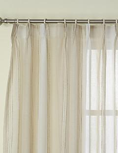 2パネル ウィンドウトリートメント 新古典主義 , 縞柄 ベッドルーム リネン 材料 シアーカーテンシェード ホームデコレーション For 窓