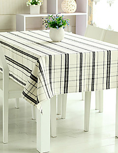 "Black and White Grids pano de tabela, linho / Rayon 80 ""* 56"""