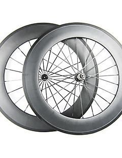 23mm Bredde 88mm 700C Full Carbon Clincher road sykkel / sykkel felg