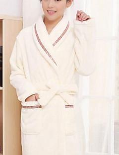 Bademantel, High-Class-Frau Beige Solid Color Garment Bademantel verdicken