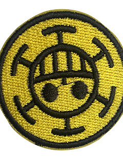 One Piece Doctor Trafalgar Law Cosplay Kläder Paste / Patch