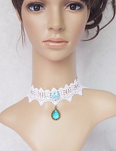 Lolita Jewelry Sweet Lolita Necklace Princess White / Blue Lolita Accessories Necklace Lace For Women Lace / Artificial Gemstones