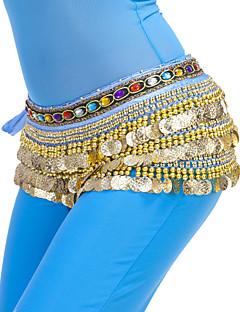 Χορός της κοιλιάς Σάλι για Χορό της Κοιλιάς Γυναικεία Εκπαίδευση Πολυεστέρας Χάντρες Κέρματα 1 Τεμάχιο Φουλάρι Γοφών για Χορό της Κοιλιάς