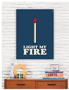 Op gespannen doek Woorden Light My Fire