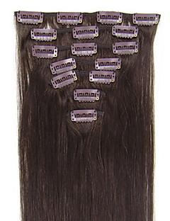 20inch 8pcs / satt indian clip-i håret 105g for full leder (flere farger tilgjengelig)