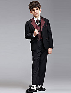 Hét darab Burgundy Ring Bearer Suit Tuxedo