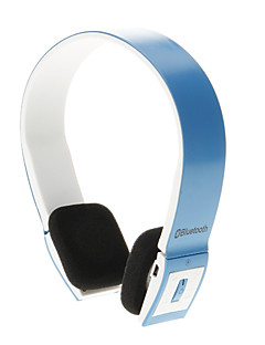 8086 iPhoneアプリコンピュータ(ブルー)用のBluetoothヘッドセットミュージックオンイヤーイヤホン