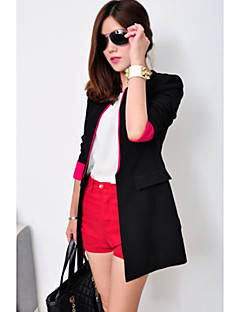 CHAOLIU Women's Black Korea Style Color Block Slim Fit Suit