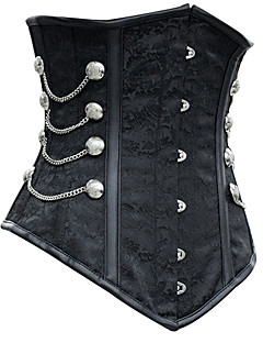 여성제품 언더버스트 코르셋 잠옷 솔리드-여성의 폴리에스테르 / 스판덱스