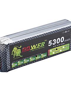 LION Power 11.1V 5300MAH 3S 40C Li-Po batteri (T-stik)