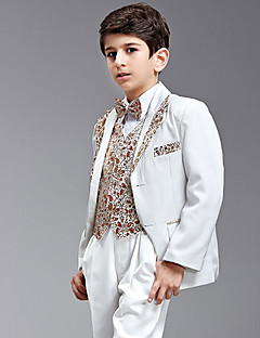 Seven Pieces Swallow-tail Ring Bearer Suit Med To Bow Ties