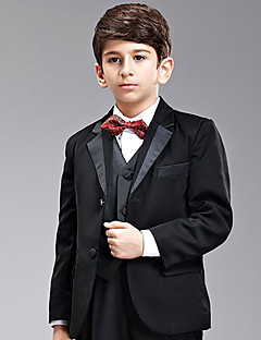 Seven Pieces Sort Ring Bearer Suit Tuxedo med to Bow Ties