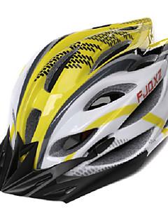 FJQXZ Unisex Outdoor PC + EPS 22 Vents Amarelo + Branco Ciclismo Hlemets