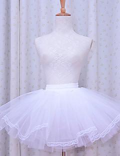 Skirt Classic/Traditional Lolita Lolita Cosplay Lolita Dress White Solid Lolita Lolita Petticoat For Women Polyester