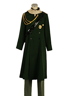 Hetalia Turkiet Sadiq Annan Army Green Uniform Duk Cosplay Kostym