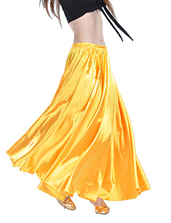 Belly Dance Skirts Women's Training Satin Champagne / Fuchsia / Pink / Purple / Royal Blue / White / Yellow / BurgundyBelly Dance /