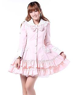 Kabát Sweet Lolita Princeznovské Cosplay Lolita šaty Růžová Jednobarevné Dlouhé rukávy Lolita Kabát Pro Dámské Polyester