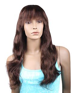 """estilo de moda de Beyonce personalizado cordón lleno de onda naturales 16 """"pelo remy indio con bang - 26 colores a elegir"""