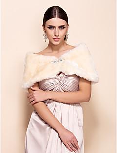 Gorgeous Faux Fur Party / aften sjal (flere farver)