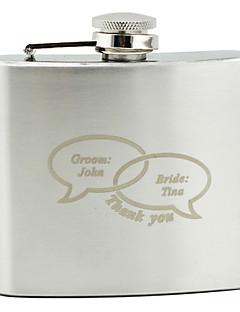 Gepersonaliseerde RVS 5-oz Flask - Dialoog
