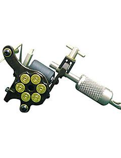 massief ijzer handgemaakt tattoo machine 10 wrap coils pistool shader en liner