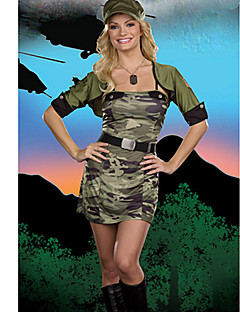Cool Girl Camouflage Polyester Militär Offizier Uniform