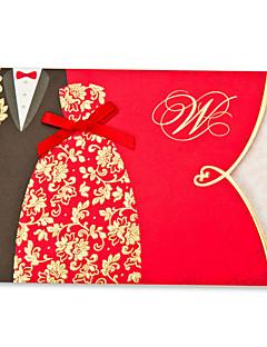 Ikke-personaliseret Folde og Pakke Wedding Invitationer Invitationskort Klassisk Stil / Brud & Brudgom StilKort Papir / Mønsterpræget