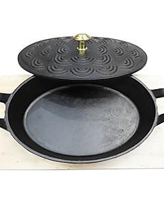 """padnigr ® Durchmesser 9 """"Gusseisen Grill Pfannen, w24cmxl28cmxh7cm"""