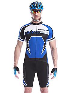 MYSENLAN® Camisa com Shorts para Ciclismo Homens Manga Curta Moto Respirável / Secagem Rápida / Vestível Conjuntos de Roupas/Ternos