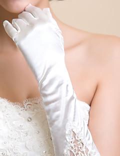 Elbow Length Fingertips/Shiny Glove Lycra Bridal Gloves