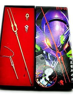 Neon Genesis Evangelion Speer van Longinus Wapen Model + Ring + Necklace Cosplay Set