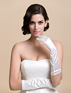 Elbow Length Fingertips Glove Satin Bridal Gloves Party/ Evening Gloves Spring Fall Winter