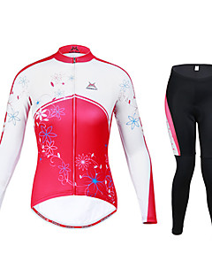 Mysenlan Cycling Jersey with Tights Women's Long Sleeve Bike Clothing Suits Thermal / Warm Quick Dry Windproof Wearable BreathableSpandex