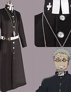 Inspired by Blue Exorcist Shiro Fujimoto Anime Cosplay Costumes Cosplay Suits Patchwork Black Long Sleeve Cloak / Coat / Belt