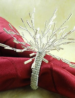 Branch  Flower Napkin Ring In Many Colors,  Glass,Dia4.5CM, Set Of 12