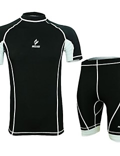 Cycling Jersey with Shorts Men's Short Sleeve Bike Breathable / Quick Dry / Anatomic Design / Wearable / Antistatic / Compression