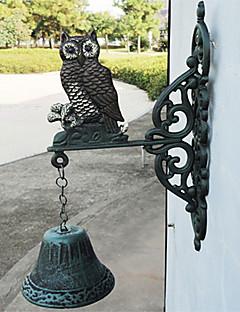 Europeiske og amerikanske Retro Rustikk Ugle av smijern Hånd-type Door Bell
