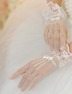 Håndledslængde Handske Fingerdupper Brudehandsker/Fest-/aftenhandsker Tyl