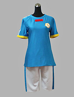 Cosplay Costume Inspired by Inazuma Eleven-Japanese Delegation Summer Blue VER. Soccer Uniform
