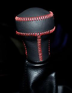 XuJi ™ Black Genuine Leather Gear Shift Knob Cover for Kia Cerato Peugeot 207 307 308 408 Manual Transmission