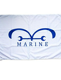 One Piece Marine Cosplay Vlag