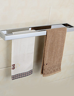 Moderne Chrom-Finish aus massivem Messing Doppel-Handtuchhalter