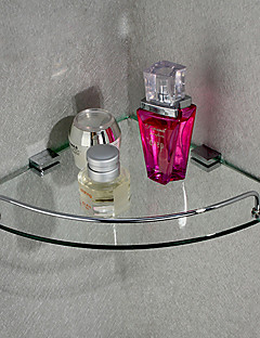 Triangular Corner Storage Glass Shelf,10 inch x 10 inch