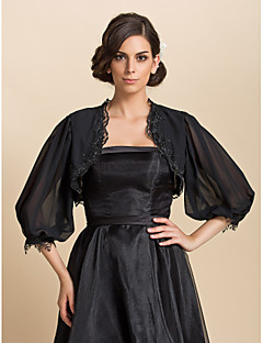 Gorgeous 3/4 Sleeve Chiffon Evening/Casual Wrap/Evening Jacket (More Colors) Bolero Shrug