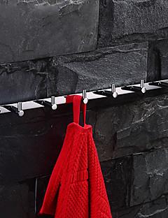 Zilver messing wand gemonteerde mantel haak (6 Haken)
